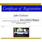 Team Member: Registration Certificate
