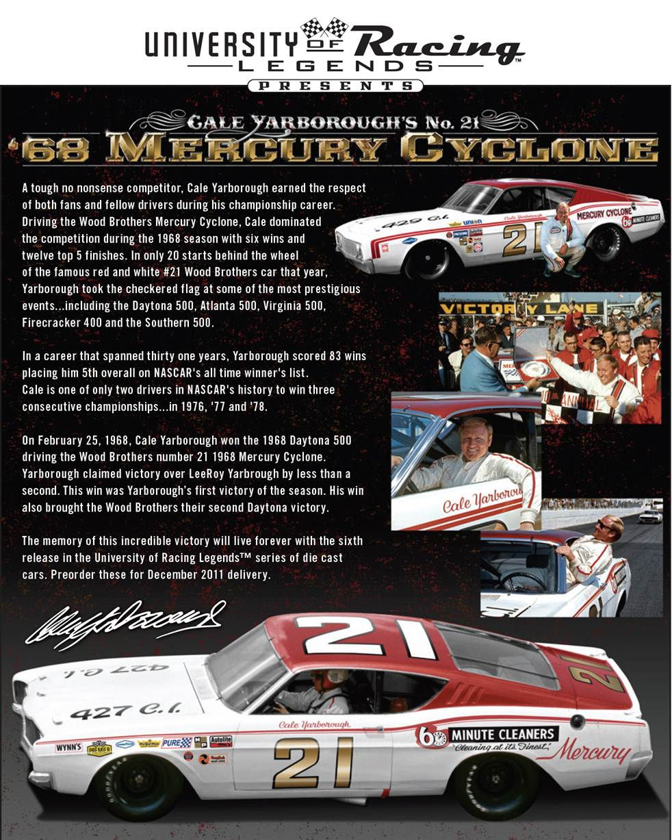 Photo of Cale Yarborough Autographed Diecast