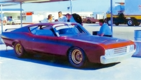 Ford Data Test Tech. David Pearson with car and note spoiler on rear!