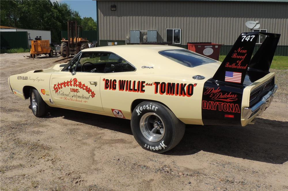 "1969 Dodge Daytona, ""Big  Willie"" street drag car, restored; Lot 5014 selling Saturday January 17, 2015,"