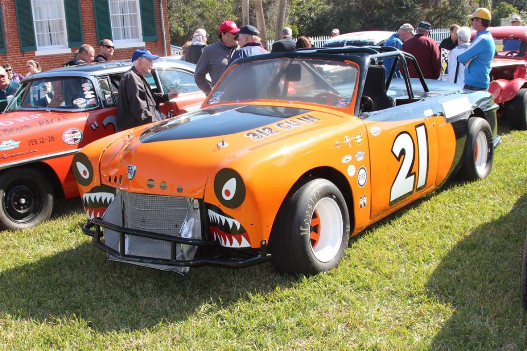 """A """"zipper top"""", this old Ford had a convertible zipper top that could be removed to race in the convertible division or re-attached and race as a hardtop!"""