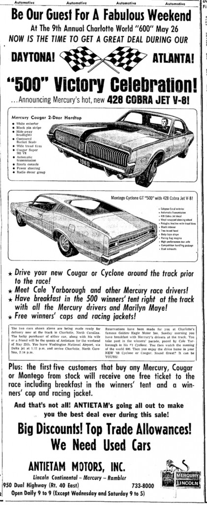 This ad not only provides a second documentation for the Cyclone GT 500 but also introduces us to the Cougar 500!