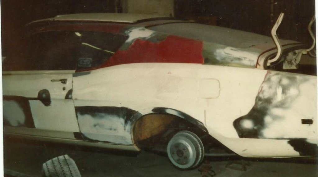 This is the George Clinedinst Spoiler II during restoration.
