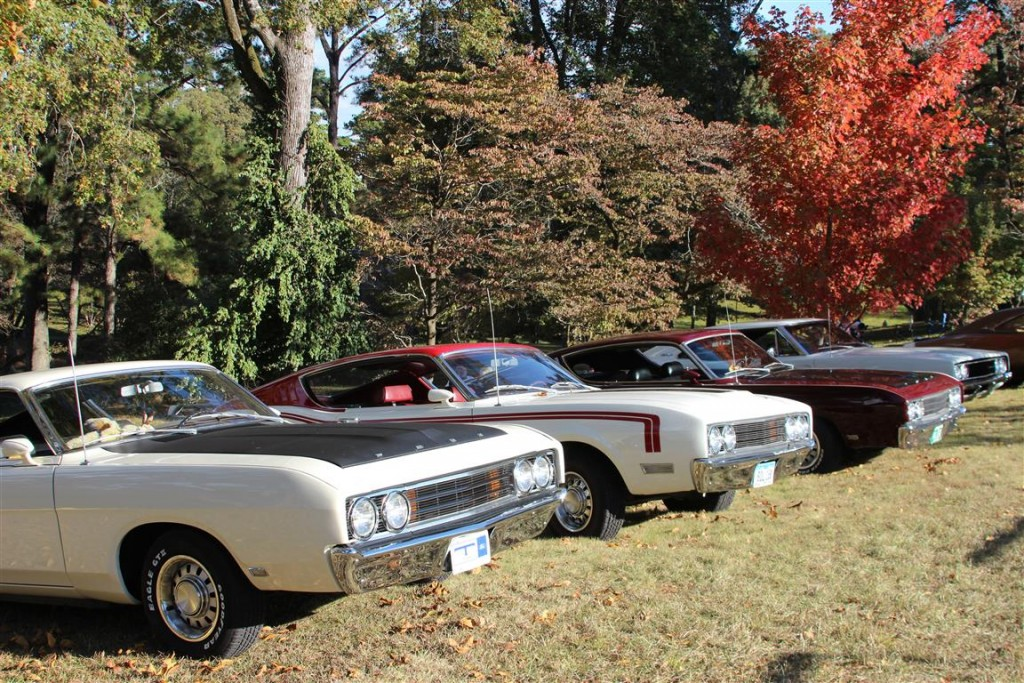 Cars on display at the Russwood estate of the Wellborns.