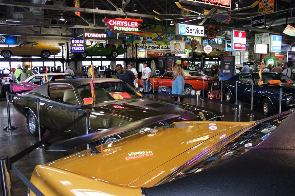 Inside the Wellborn Muscle Car Museum.