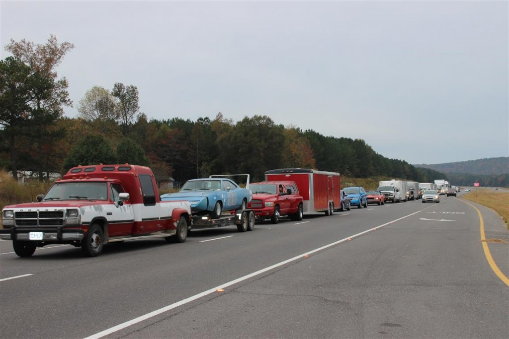 This is still only a small part of the caravan to Talladega Superspeedway.