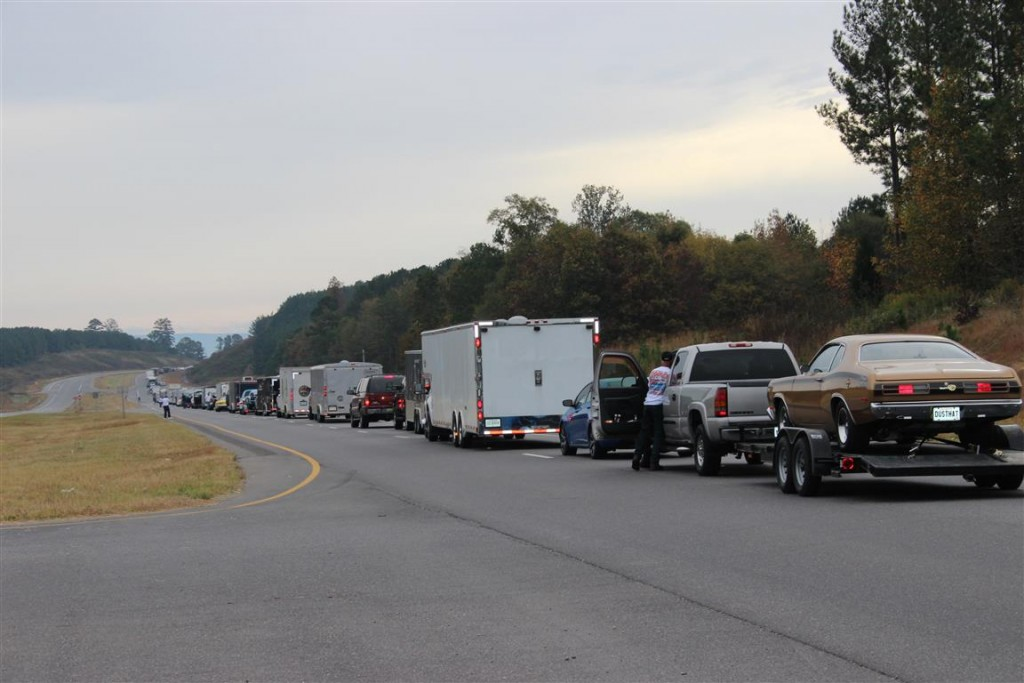 A small part of the caravan to Talladega Superspeedway.