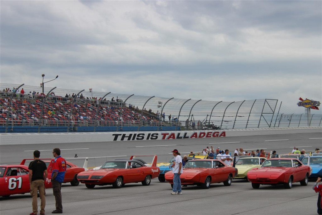 The front row of Aero Warriors on the Talladega Superspeedway.