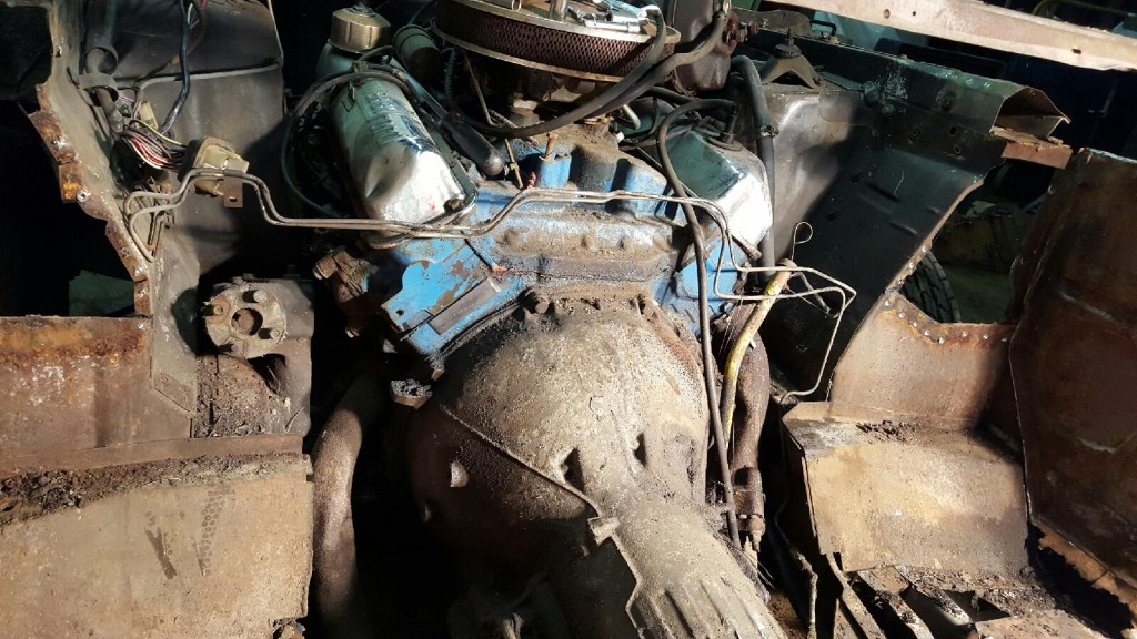 Here is another view of the engine with the firewall removed!