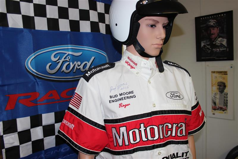 A recent passion has been uniforms and similar items. This Motorcraft Bud Moore autographed suit and is one of our treasured items. More on it in another post.