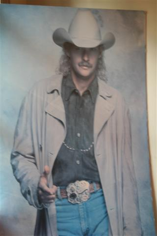 Do you have a full size poster of yourself in your Man Cave? (If I was Alan Jackson, I would!)
