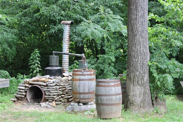 A real old, non=functioning, moonshine still.