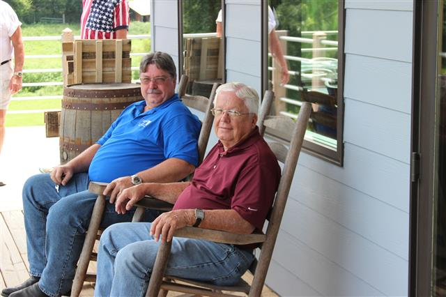Carl Sharp and Carl Sr. (Carl's father) found a relaxing spot at Short Mountain.