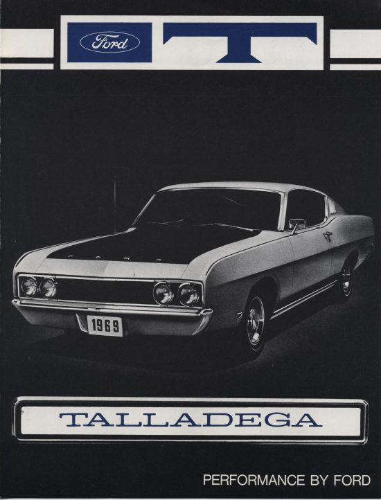 Cover of Talladega dealer brochure.