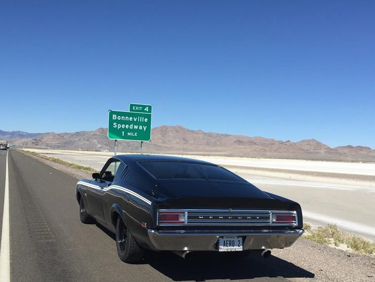 Not satisfied to run 150 MPH on the Bonneville Salt Mike drove the car to and back from Bonneville.