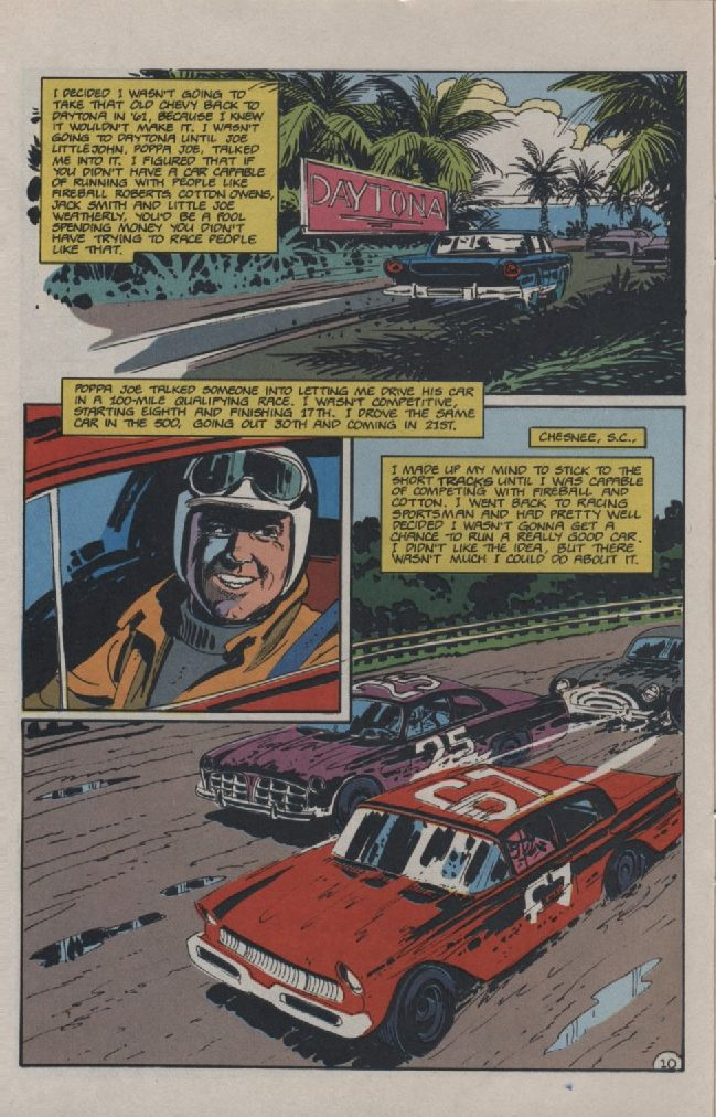 Photo of Life Story of David Pearson in comic books; Part 2
