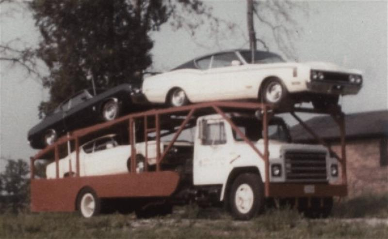 This is a load of Aero Cars that Mike was taking home from back in the day.