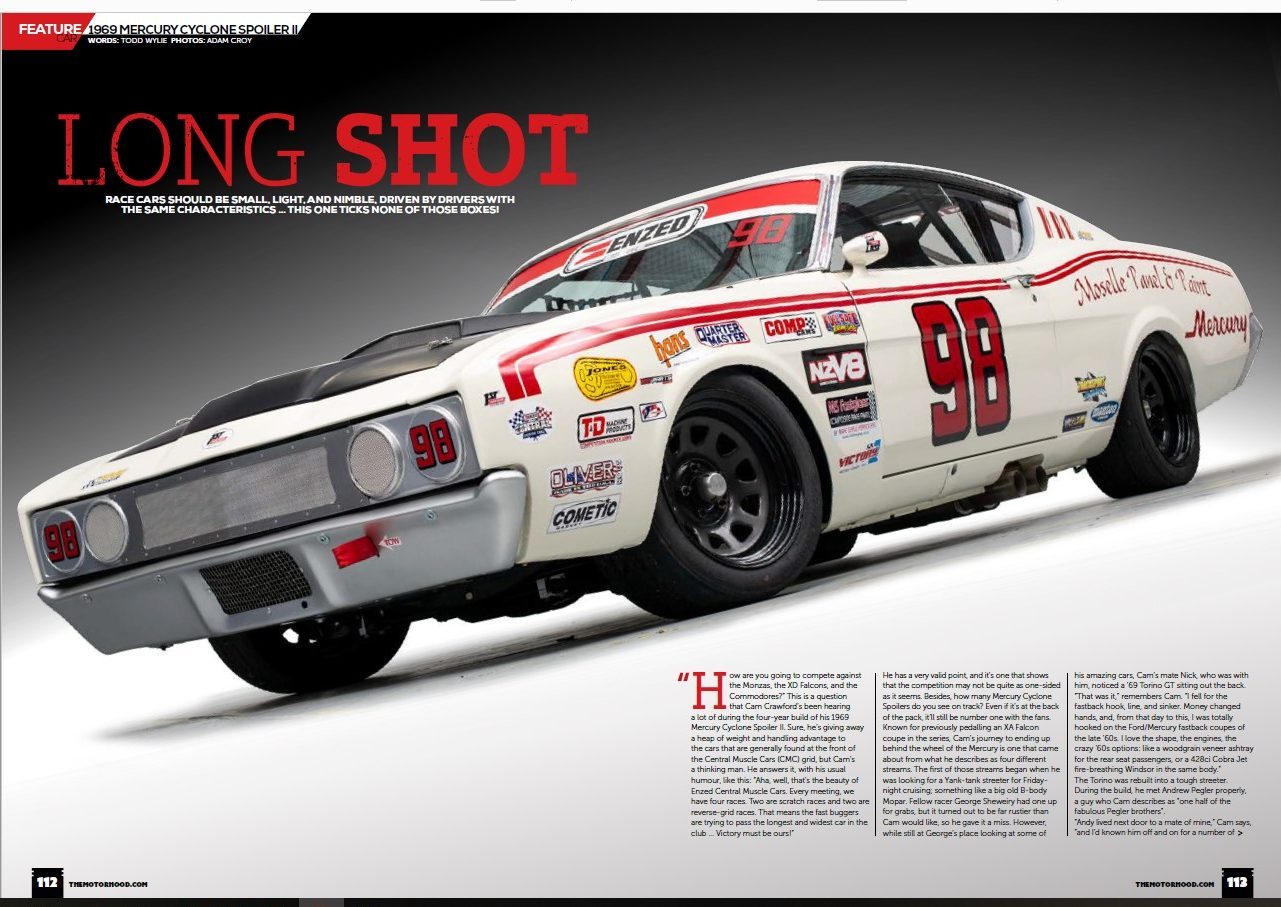 Photo of Cam Crawford's Right Hand Drive Race Car