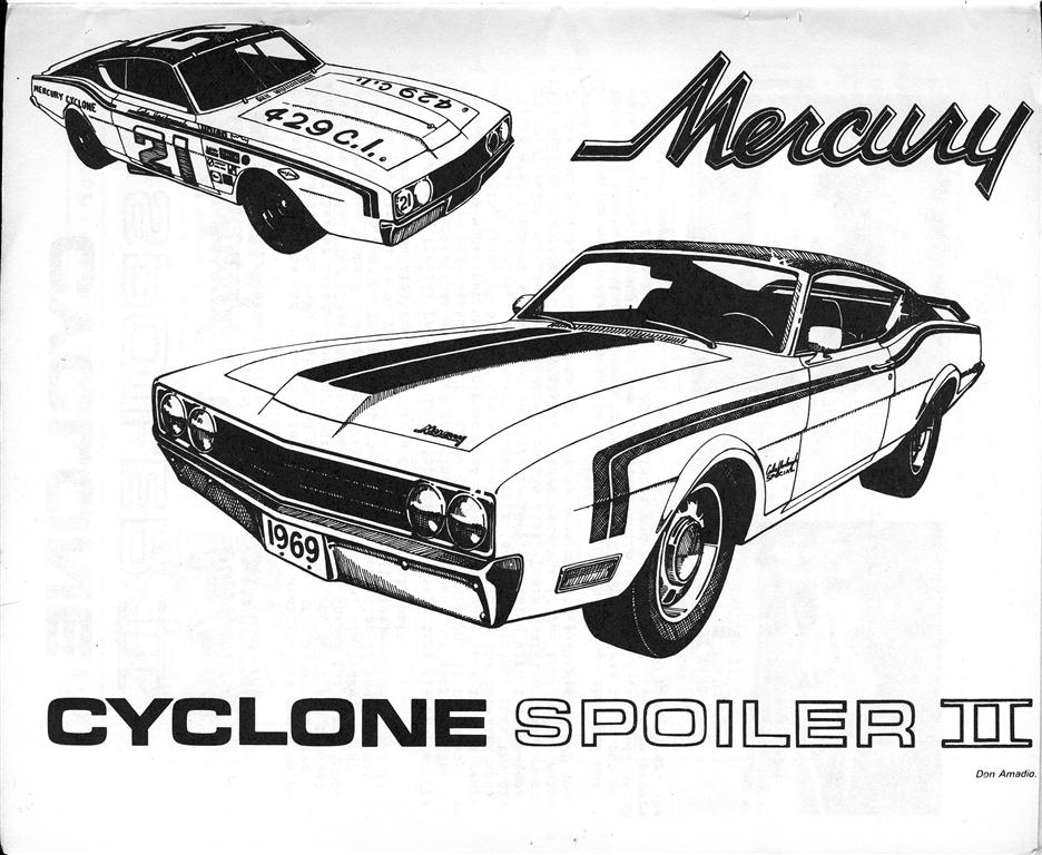 Speedway On 1969 Mercury Spoiler Ii Part 1 Talladega And Spoiler