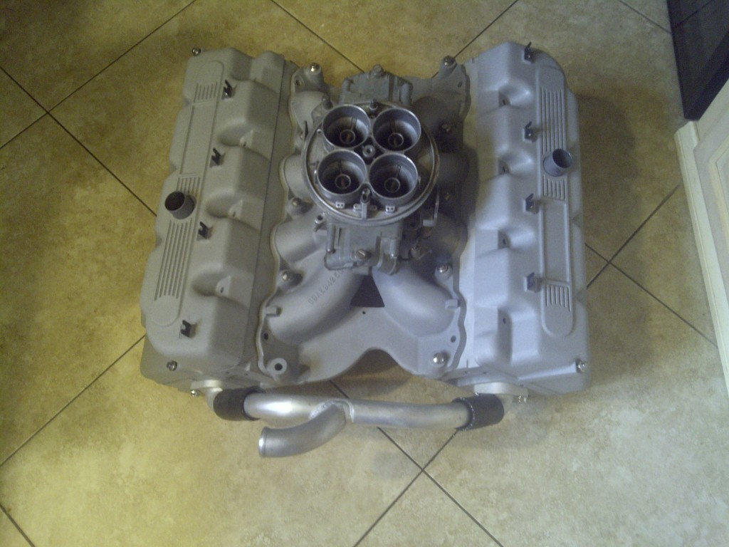 Boss 429 Heads, Intake, Valve Covers with Dominator W Choke Horns