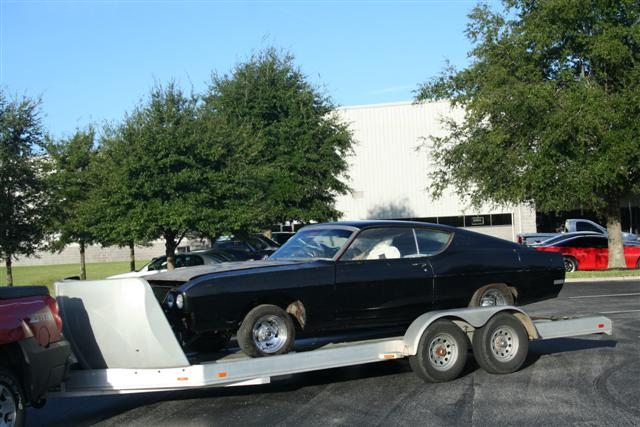 This is a picture of Kjell's Talladega when I delivered it to Florida on its way to be shipped to his home in Norway