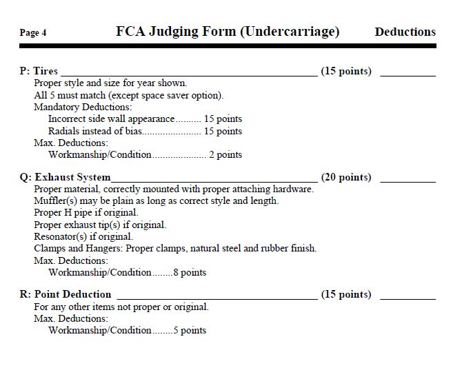 Undercarriage Deductions; Page 4