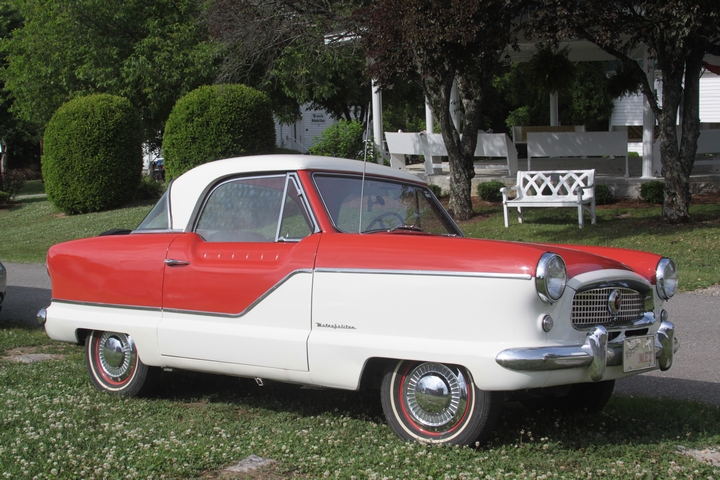 "Nash Metropolitan, early ""smart car""."