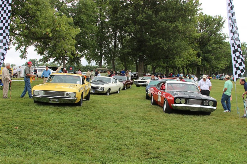 Our Reunion Cars were lined up on the Show Field NASCAR style with the race cars in the front row.
