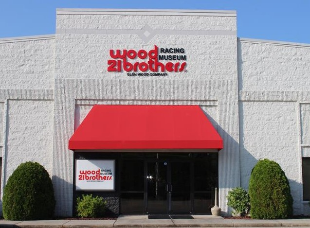 Entrance to the Wood Brothers' Museum in Stuart VA.