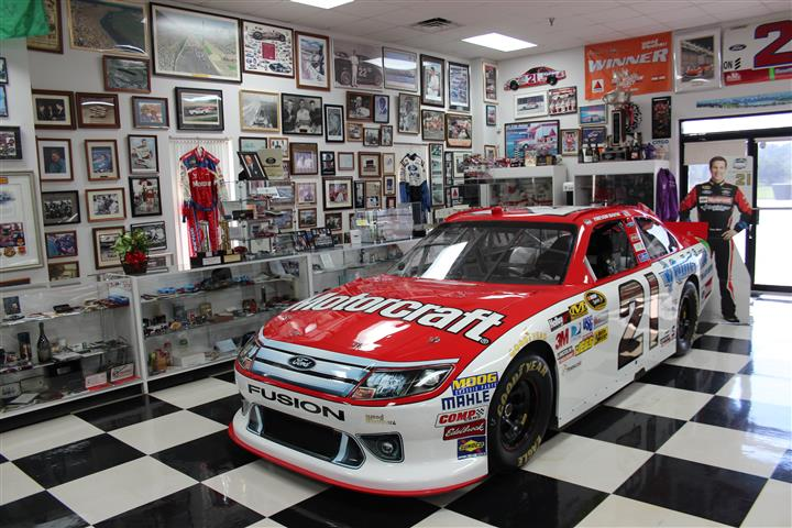 Current Wood Brothers' #21 race car for Trevor Bayne.